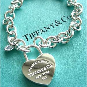 TIFFANY & CO. HEART LOCK CHARM BRACELET